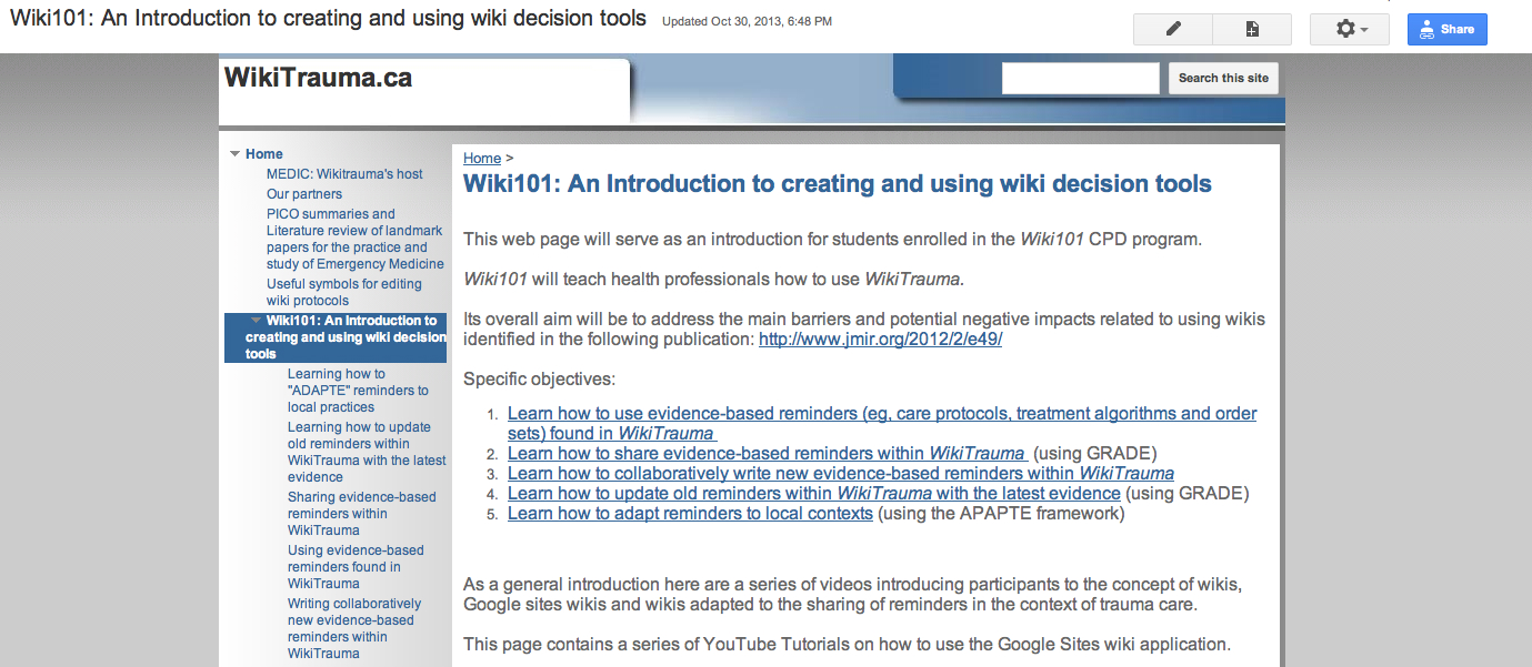 Jrp Implementation And Evaluation Of A Wiki Involving Multiple Electric Circuits Resistors In Series Parallel Youtube View This Figure 2 Screenshot Wiki101 Training Program
