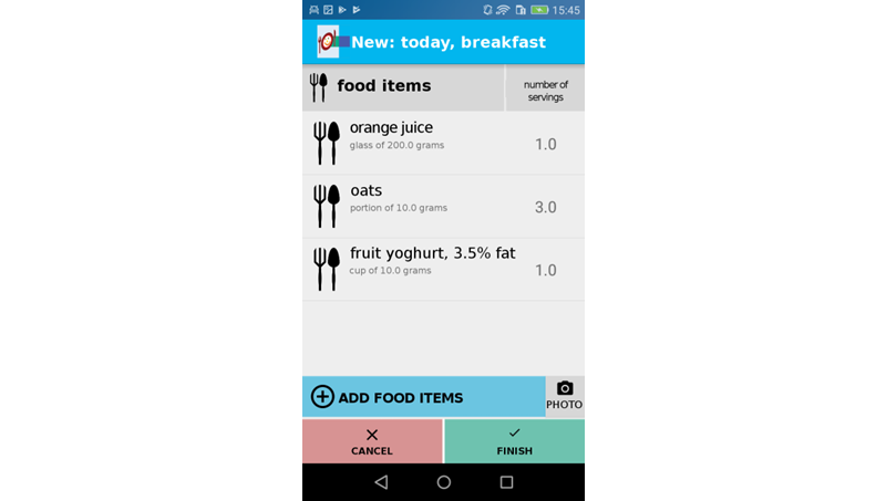 JC - A Novel Mobile Phone App (OncoFood) to Record and