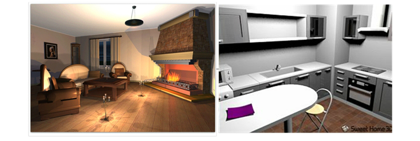 examples of virtual home environments lounge left kitchen right produced using virtual reality interior design applications vrida - Interior Design Applications