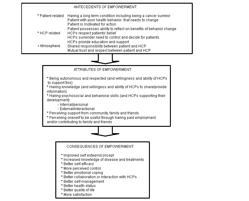 Conceptual Ponents Of Empowerment In Chronic Patients Including Cancer Survivors Hcp Health Care Provider A Detailed Overview Attributes Is: Understanding Cancer Worksheet At Alzheimers-prions.com