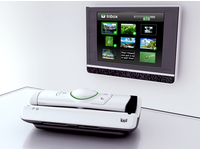 The communication device, a prototype called ippi, connected to the TV-set. Source: Figure 1 from http://www.medicine20.com/2013/2/e12; Copyright: the authors; License: Creative Commons Attribution (CC-BY).