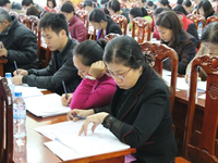 Vietnamese health professionals taking continuing medical education examinations. Source: Image created by the Authors; Copyright: The Authors; URL: https://mededu.jmir.org/2019/1/e12058; License: Creative Commons Attribution (CC-BY).