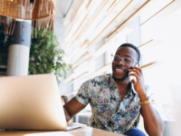 Source: Freepik; Copyright: senivpetro; URL: https://www.freepik.com/free-photo/african-american-business-man-with-phone-and-laptop-in-a-cafe_2522676.htm; License: Licensed by JMIR.