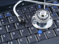 Source: Wikimedia Commons; Copyright: jfcherry; URL: https://commons.wikimedia.org/wiki/File:Laptop_and_stethoscope_(6123892769).jpg; License: Creative Commons Attribution + ShareAlike (CC-BY-SA).