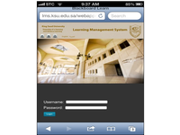 A snapshot of LMS page for Medical Informatics course via mobile device (cropped Figure 1).