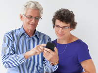 Source: Freepik; Copyright: katemangostar; URL: https://www.freepik.com/free-photo/elderly-showing-texting-device-communication_1022644.htm; License: Licensed by JMIR.