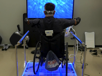 Active video gaming on the adapted Wii Fit balance board. Source: The Authors; Copyright: The Authors; URL: https://games.jmir.org/2019/1/e11326/; License: Licensed by JMIR.