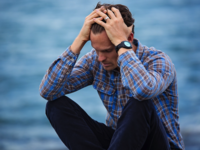 A person experiencing stress. Source: Pexels; Copyright: Nathan Cowley; URL: https://www.pexels.com/photo/man-in-blue-and-brown-plaid-dress-shirt-touching-his-hair-897817/; License: Licensed by JMIR.