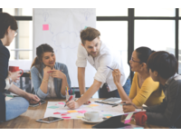 Group work at a workshop. Source: Shutterstock; Copyright: Chaay_Tee; URL: https://www.shutterstock.com/image-photo/multiethnic-group-happy-business-people-working-611226299; License: Licensed by the authors.