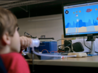 A child playing Heritages (developed by Breathing Games contributors). Source: A New Economy; Copyright: A New Economy; URL: https://www.aneweconomy.ca; License: Licensed by the authors.
