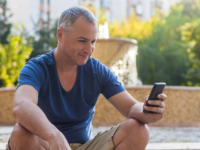 Source: Freepik; Copyright: Dragana Gordic; URL: https://www.freepik.com/free-photo/close-up-portrait-of-happy-smiling-forty-years-old-caucasian-man-talking-on-a-mobile-phone-outdoor_1190307.htm#term=old%20man%20phone&page=2&position=13; License: Licensed by JMIR.