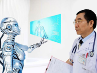 An oncologist working with artificial intelligence. Source: Image created by the Authors; Copyright: The Authors; URL: http://www.jmir.org/2018/9/e11087/; License: Creative Commons Attribution (CC-BY).