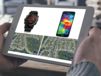 Comparison of location information collected from a GPS watch and a smartphone (montage). Source: The Authors / Smartmockups.com; Copyright: JMIR Publications; URL: http://mhealth.jmir.org/2018/8/e168/; License: Creative Commons Attribution + Noncommercial + ShareAlike (CC-BY-NC-SA).