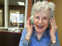 Coauthor's mother listening to a story about how they used to go Huckleberry picking. Source: Image Created by Authors; Copyright: The Authors; URL: http://aging.jmir.org/2019/1/e11599/; License: Licensed by JMIR.