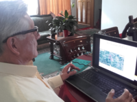 Participant with cardiovascular disease uploading training data from home. Source: Image created by the Authors; Copyright: The Authors; URL: http://www.jmir.org/2018/6/e225; License: Creative Commons Attribution (CC-BY).