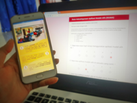Assessing a mobile app using validated questionnaire. Source: Image created by the Authors; Copyright: The Authors; URL: http://humanfactors.jmir.org/2018/2/e10308/; License: Creative Commons Attribution + Noncommercial + NoDerivatives (CC-BY-NC-ND).