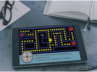 The interactive multimedia module, featuring a game-based quiz (montage). Source: The Authors / Magic Mockups; Copyright: JMIR Publications; URL: http://mededu.jmir.org/2018/1/e8/; License: Creative Commons Attribution (CC-BY).