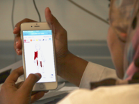 Doctor using the Vula app. Source: The Authors; Copyright: The Authors; URL: https://mhealth.jmir.org/2018/10/e11076; License: Licensed by JMIR.