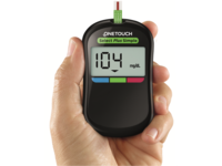 OneTouch Select Plus Simple glucose meter. Source: Image created by the Authors; Copyright: The Authors; URL: http://diabetes.jmir.org/2018/1/e1/; License: Creative Commons Attribution (CC-BY).