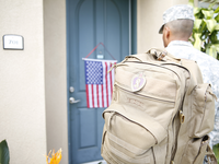 Purple heart US Serviceman returning home. Source: Road Home Program at Rush; Copyright: Road Home Program at Rush; URL: https://roadhomeprogram.org/about-road-home/; License: Creative Commons Attribution (CC-BY).