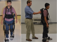 Robotic exoskeleton. Source: Image created by the Authors; Copyright: The Authors; URL: http://rehab.jmir.org/2019/1/e11023/; License: Licensed by JMIR.