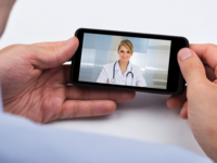 Mobile videoconferencing. Source: iStock by Getty Images; Copyright: AndreyPopov; URL: https://www.istockphoto.com/ca/photo/person-videochatting-with-doctor-on-mobile-phone-gm511009076-86473907; License: Licensed by the authors.