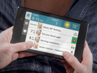 mHealth App (TouchStream) to deliver geriatric assessment-driven interventions (montage). Source: The Authors / Placeit; Copyright: JMIR Publications; URL: http://cancer.jmir.org/2018/2/e10296/; License: Creative Commons Attribution (CC-BY).
